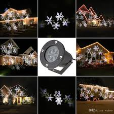 Christmas Outdoor Light Projector by Newest Led Snowflake Effect Lights Outdoor Christmas Light