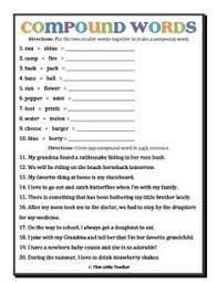 word addition compound words 1 compound words worksheets and