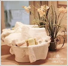 bathroom towel folding ideas bathroom decorating ideas use a pretty floral container to hold