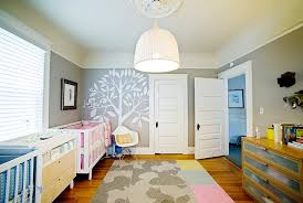 Neutral Nursery Decorating Ideas Bedroom Exciting How To Paint A Tree On A Wall Eclectic Nursery