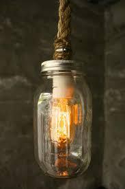 Mason Jar Pendant Light Mason Glass Jar Nautical Pendant Light U2013 Tudo And Co