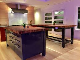 black kitchen island with butcher block top best kitchen tigerwood butcher block countertops black pic for