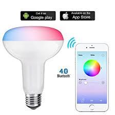 light bulbs controlled by iphone amazon com shyu 12w bluetooth smart led flood light bulb smartphone