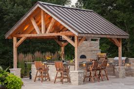 Gable Patio Designs Chicago Covered Patio Designs Traditional With Pizza Oven