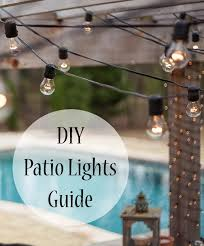 Backyard String Lighting by Outdoor Style How To Hang Commercial Grade String Lights Patio