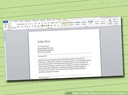 education for a resume 3 ways to write a resume for a non profit agency wikihow