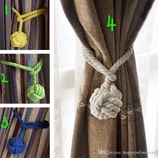 Where To Buy Curtain Tie Backs 2017 New Design Cotton Braided Curtain Tieback Single Ball