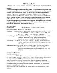 Sample Resume For Experienced Linux System Administrator by Attractive Network Administrator Resume For Inspire You Vntask Com