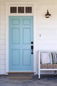 House Door by Front Door Benjamin Moore Tranquil Blue L Beach Home Exteriors