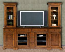 Glass Front Living Room Cabinets Furniture Oak Entertainment Center Design Ideas With Gray Wall
