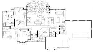 Floor Plans For One Level Homes by Open Floor Plans For Single Story Mediterranean Modern Homes 3394
