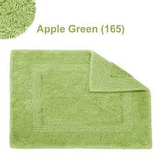 Square Bath Rug Habidecor Reversible Bath Rug Apple Green 165 Flandb