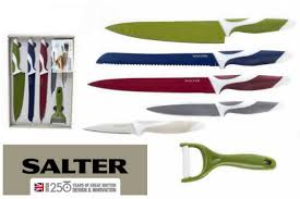 coloured kitchen knives salter colour collection 6 kitchen knife set jt rewards