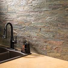 Aspect Peel And Stick Backsplash Tiles In Glass Stone And Metal - No grout tile backsplash