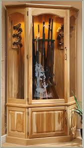 Glass Gun Cabinet Wood Gun Cabinet With Deer Etched Glass Cabinet Home