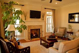 decorate small living room with fireplace home design