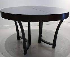 Black Extendable Dining Table Unusual Idea Modern Black Round Dining Table Sets View In Gallery