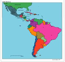 Political Map United States by Latin America Political Map