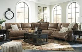 reclining sofa with console and massage ashley touch screen