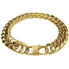mens gold bracelet links images Thick 18k gold bracelet cuban link chain for men jpg
