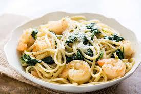 Pasta Recipes Shrimp Lemon Spinach Linguine Recipe Simplyrecipes Com