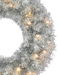 tinkerbell silver artificial wreath and garland treetopia