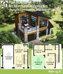house plan plan 80878pm dramatic contemporary with second floor