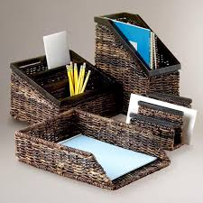 table paper holder office office table cute accessories using brown rattan paper