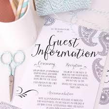 Registry Cards For Wedding Invitations Guest Information Wedding Invitation