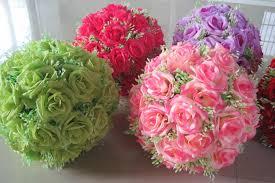 flower balls 6 8 17cm silk flower wedding balls pomander decorative