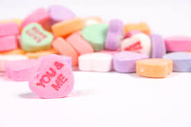 valentines heart candy candy heart count