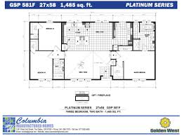 Home Floorplans Columbia Manufactured Homes Golden West Platinum Series Floorplans