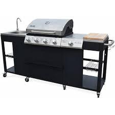 cuisine ext駻ieure somagic barbecue au gaz d artagnan cuisine extérieure 5 brûleurs évier