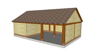 Carport Attached To Garage Building A Gable Carport Roof Plans Howtospecialist How To