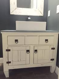 ana white farmhouse bathroom vanity featuring andrew harris