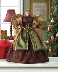 christmas angel doll tree topper wholesale at koehler home decor