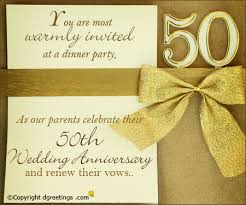 invitation greetings 50th anniversary greeting cards 50th anniversary invitation