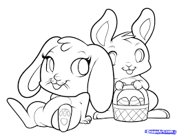 easter bunny drawing free download