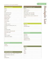 Household Essentials List Create Your Own Grocery Stockpile List