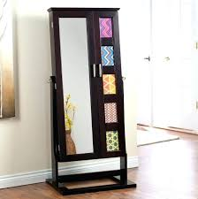 stand alone mirror with lights elegant stand alone mirror standing with jewelry storage regarding