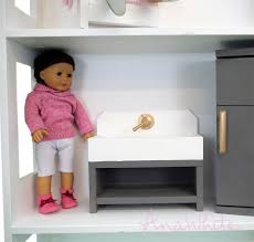 18 inch doll kitchen furniture white american or 18 doll kitchen sink farmhouse style