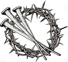 the crown of thorns with the nails of jesus christ symbols of