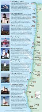 map of oregon lighthouses lighthouses of the oregon coast