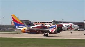 Grand Rapids Mi Airport Southwest Airlines Boeing 737 Illinois One Livery Takeoff Grand