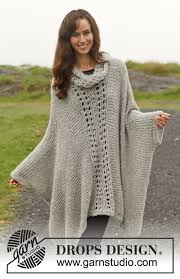drops design poncho amari drops 150 36 free knitting patterns by drops design