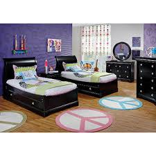 roomsto go kids oberon black 4 pc sleigh bedroom rooms to go kids