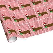 dachshund christmas wrapping paper santa at the christmas wrapping paper