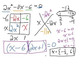 quadratic equations with generic rectangles and diamond problems