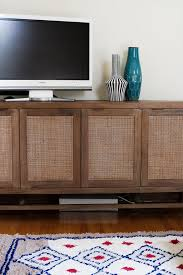 crate and barrel media cabinet the double parlors shortly after moving in making it lovely