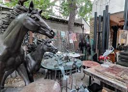 outdoor sculptures and yard fortney s eclectic home